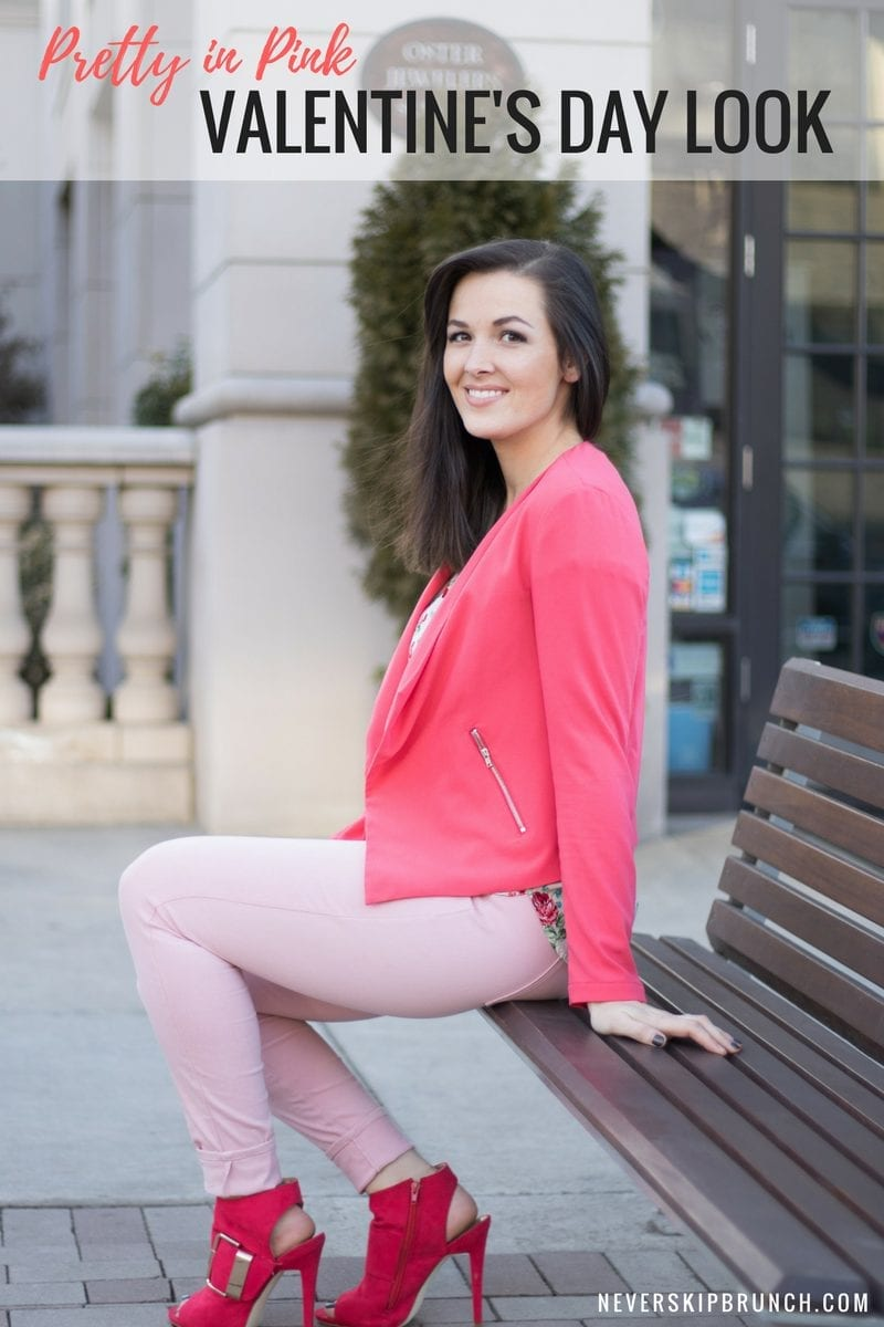 Valentines Outfit | Vday Look | Pink Blazer | Pretty In Pink | Date Night Outfit | Cute Valentines Day Look