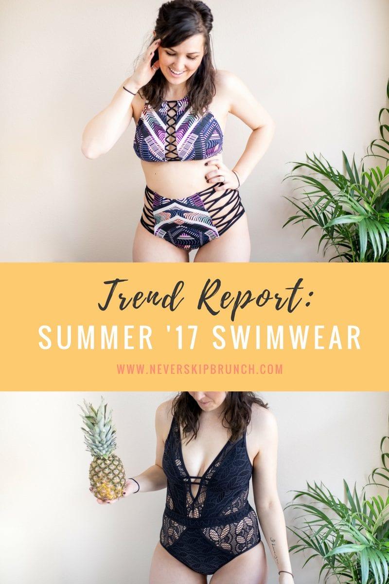 2017 Swimwear trends | Best Swimsuits 2017 | Summer Bikini | High neck halter | High Waist Swimsuit bottom | Lace one piece