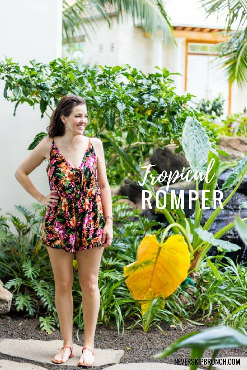 prints for summer 2017 | floral romper | tropical vacation style | beach vacation looks | Summer 2017 style | patterned romper | spring 2017 florals