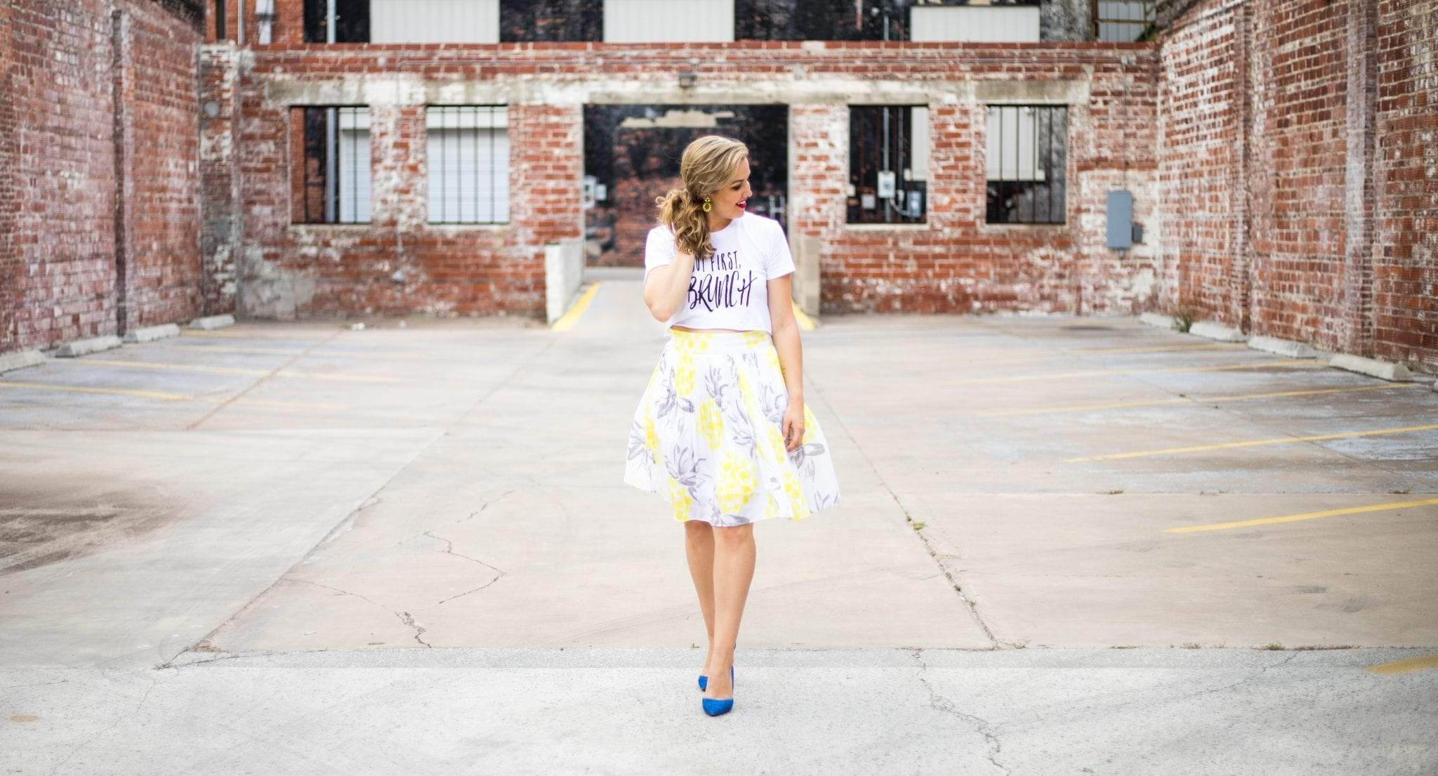 but first brunch shirt giveaway | monetize your blog with affiliate links | Cute Crop Top | venndy platform for bloggers | never skip brunch apparel line | Cara Newhart - Denver Style Blogger