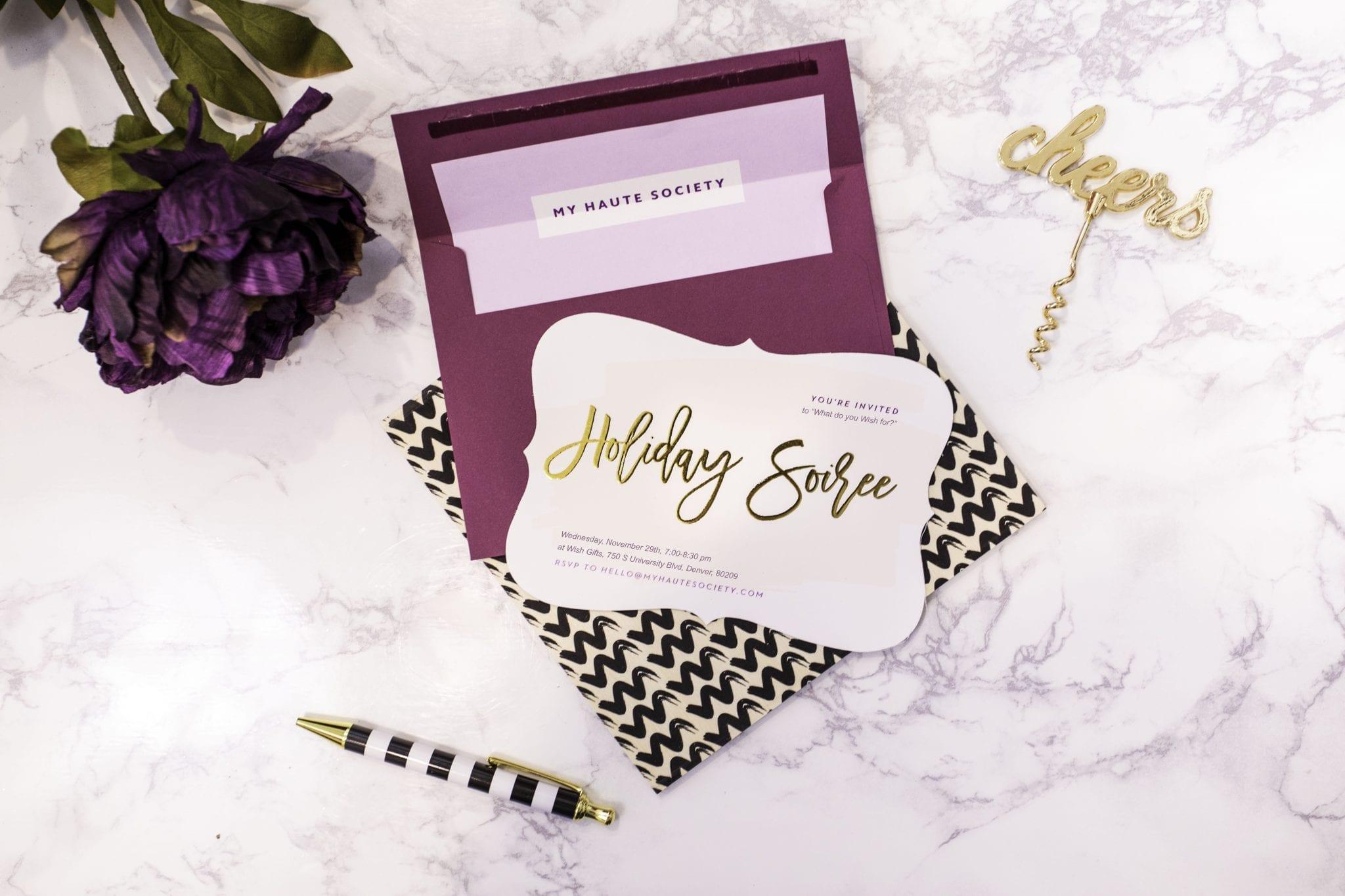 holiday invites | holiday party invitation | basic invite | christmas party invite custom