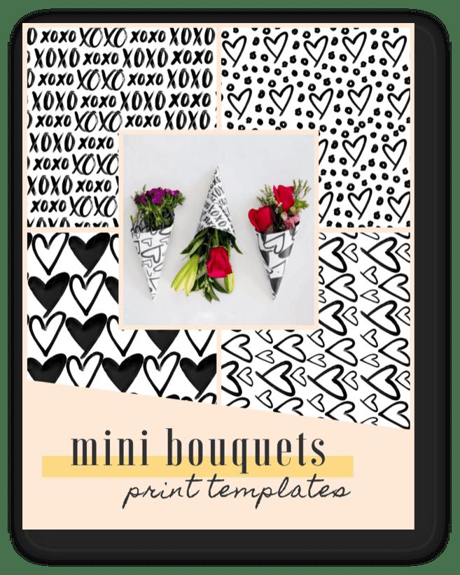 DIY mini Valentines day / Galentines Day Bouquets