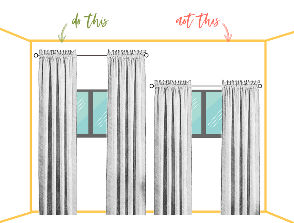 curtains - rod height