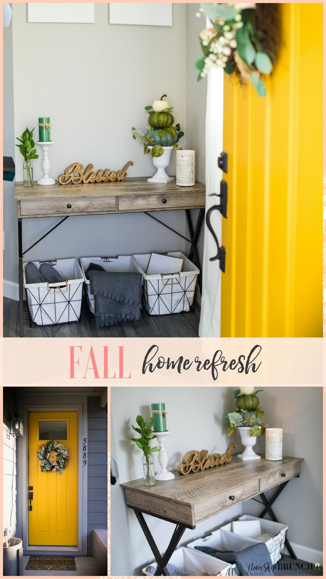 Check out this fall decor not orange and my fall decor ideas for the home | never skip brunch by cara newhart #decor #fall #neverskipbrunch