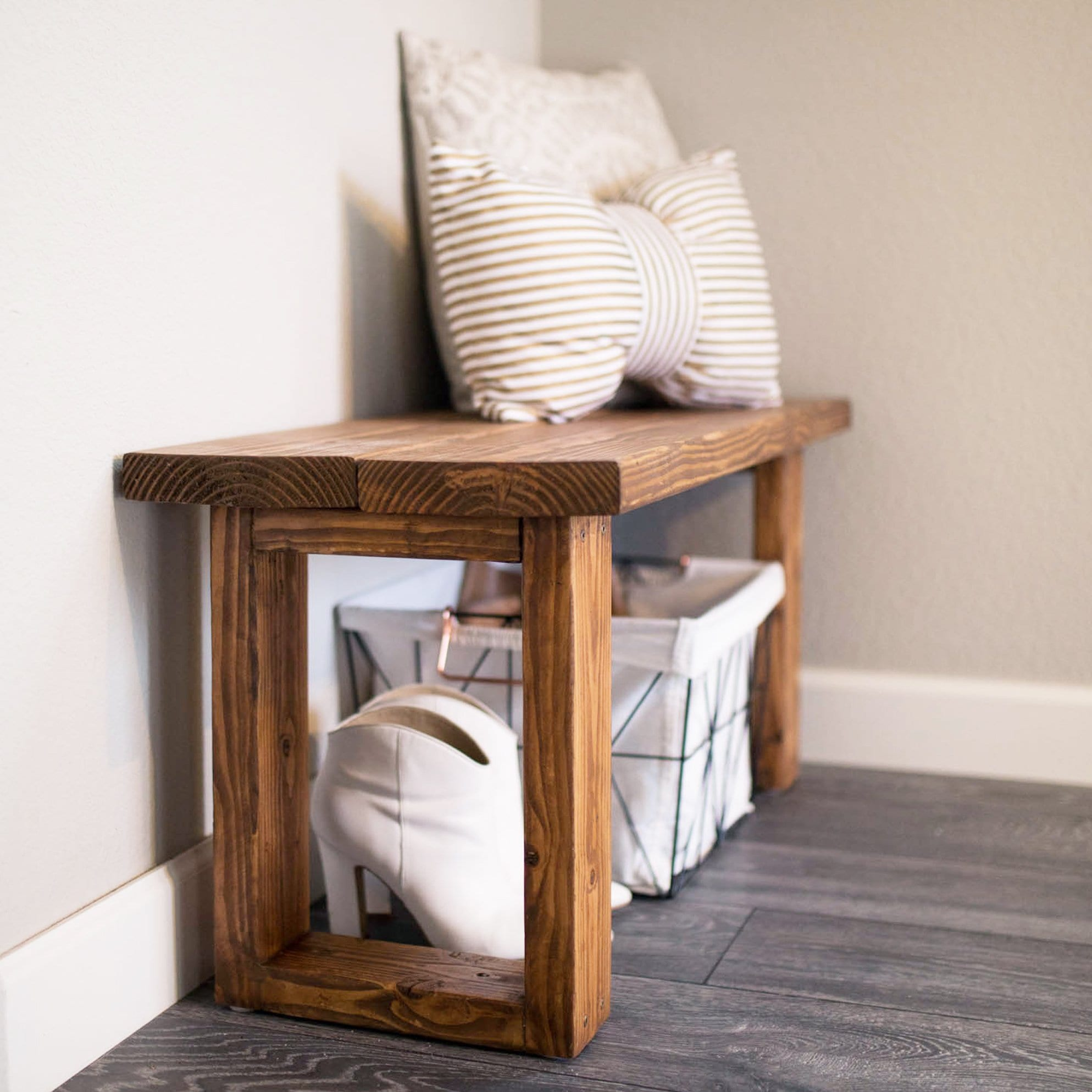 entryway bench diy under $12
