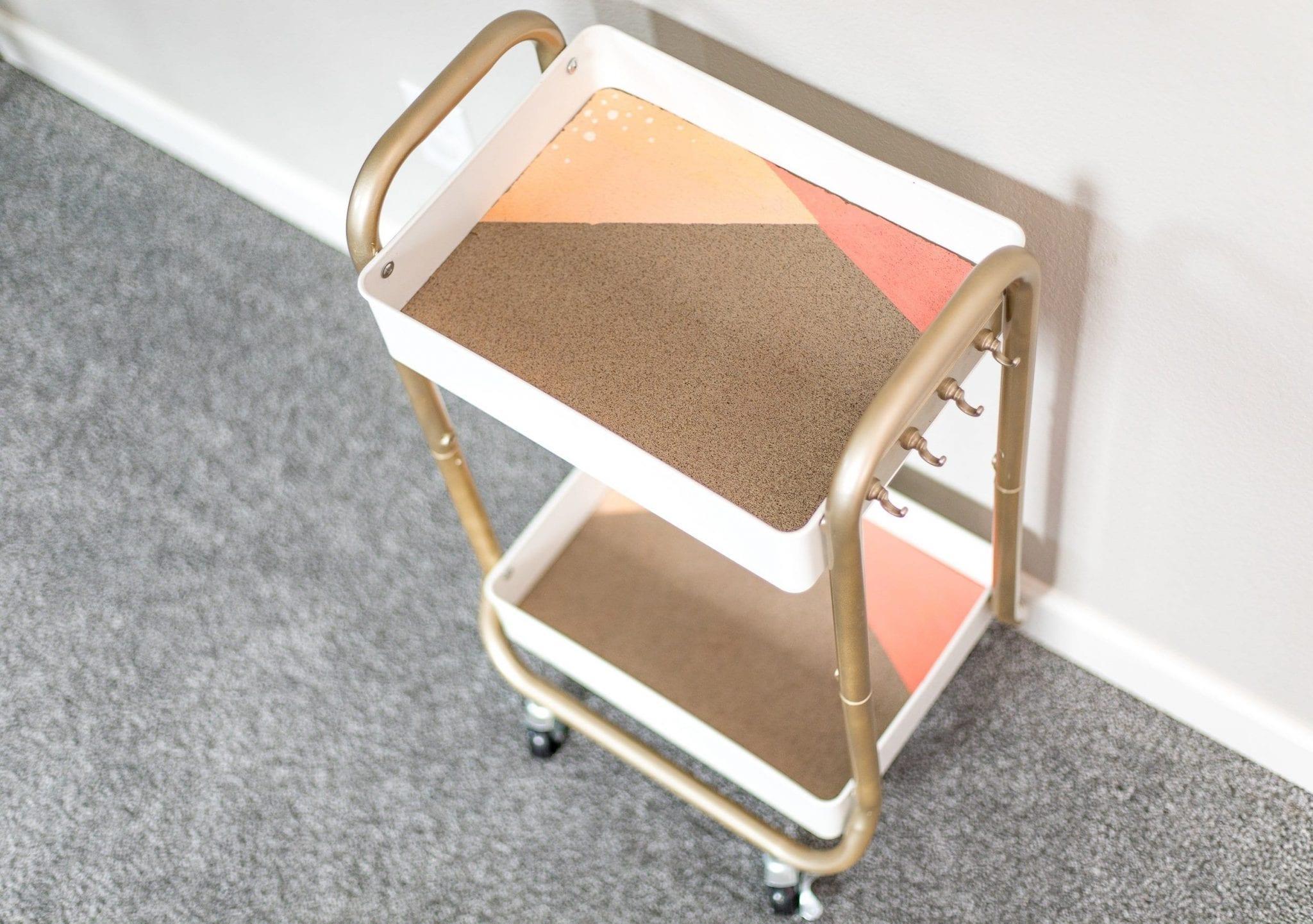 bar cart diy   bar cart diy metal   bar cart diy before and after   bar cart styling ideas   bar cart ideas   bar cart ideas DIY   Never Skip Brunch by Cara Newhart   #Brunch #DIY #barcart #neverskipbrunch