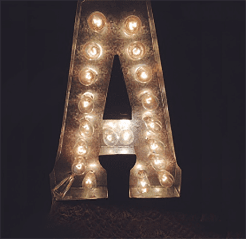 SO CUTE!! This tutorial has 2 versions for DIY Marquee Letters - Metal or Wood ones! | marquee letter diy | marquee letter diy tutorials | marquee letter diy wooden | marquee letter diy metal | never skip brunch by cara newhart #decor #DIY #light