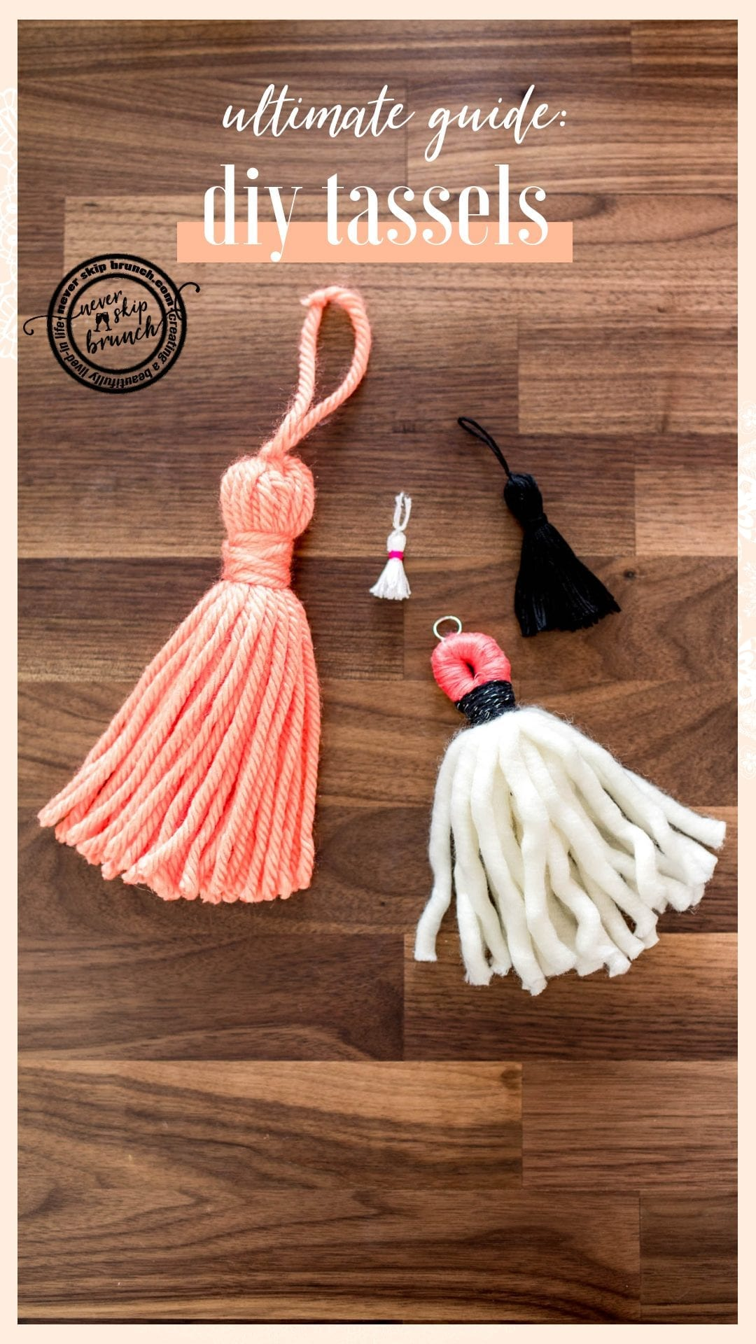 tassel diy | how to make tassels diy | tassel diy yarn |  Tassel tutorial | tassel diy boho | » Never Skip Brunch by Cara Newhart #brunch #DIY #tassels