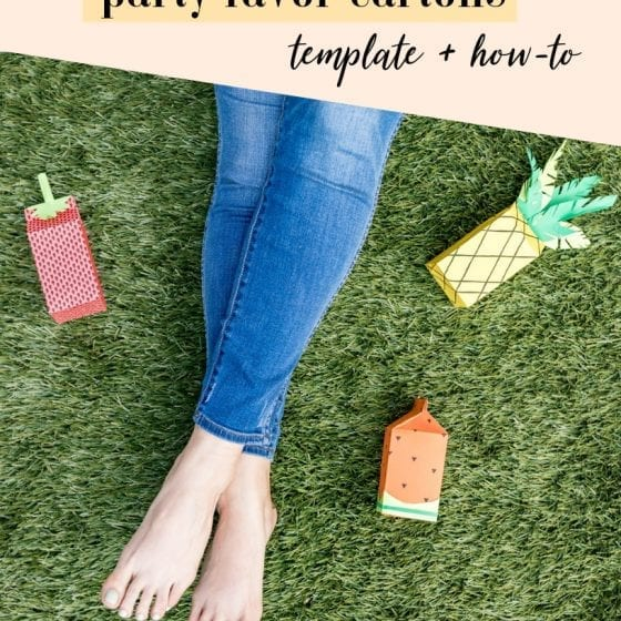 ADORABLE!! These DIY cartons are perfect summer party decor — this FREE guide has templates you can download to make these | fruit decor | carton DIY Ideas | DIY paper cartons | Carton crafts | Never Skip Brunch by Cara Newhart #DIY #Decor #summer