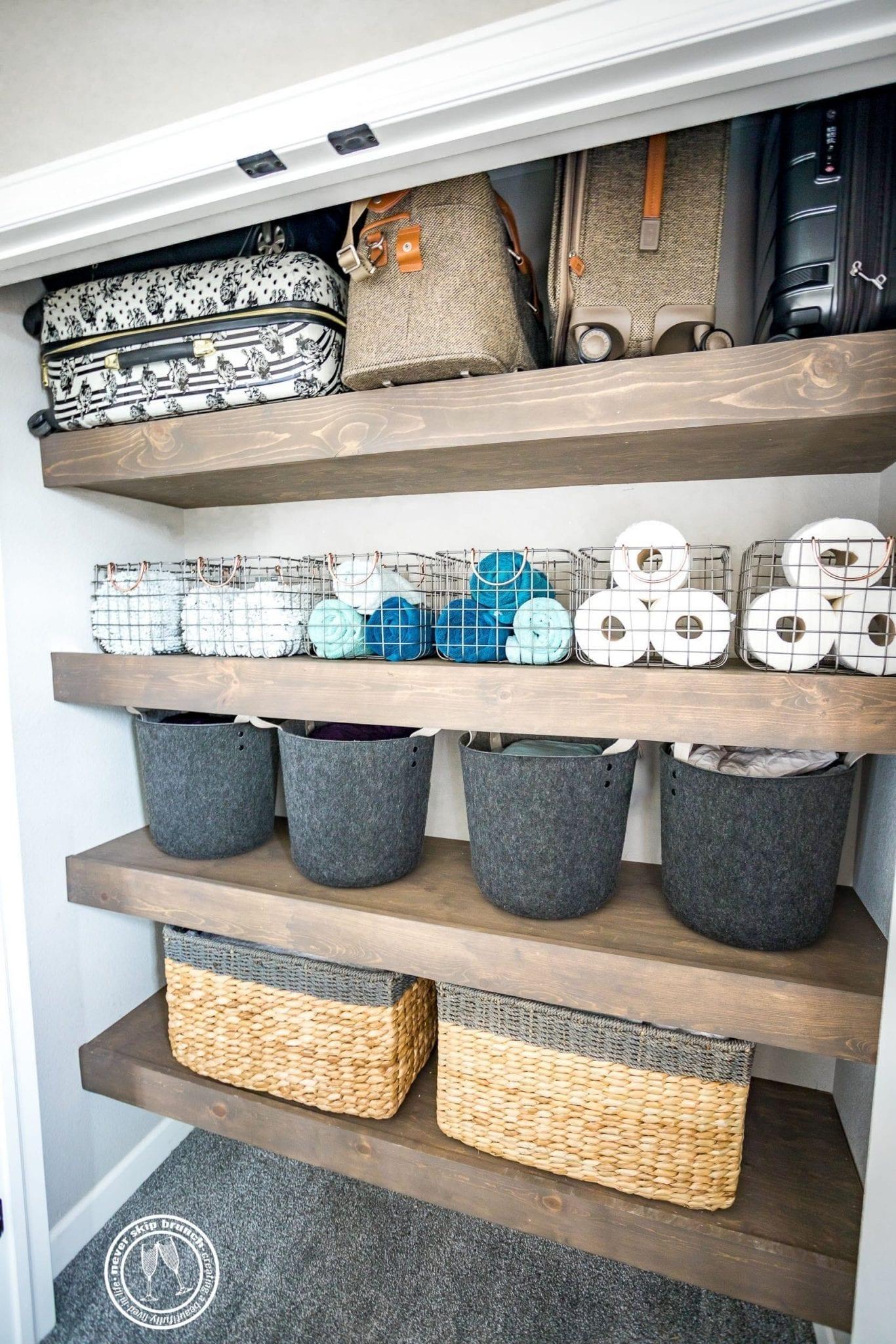 Linen Closet Organization Goals Before After Hiring A