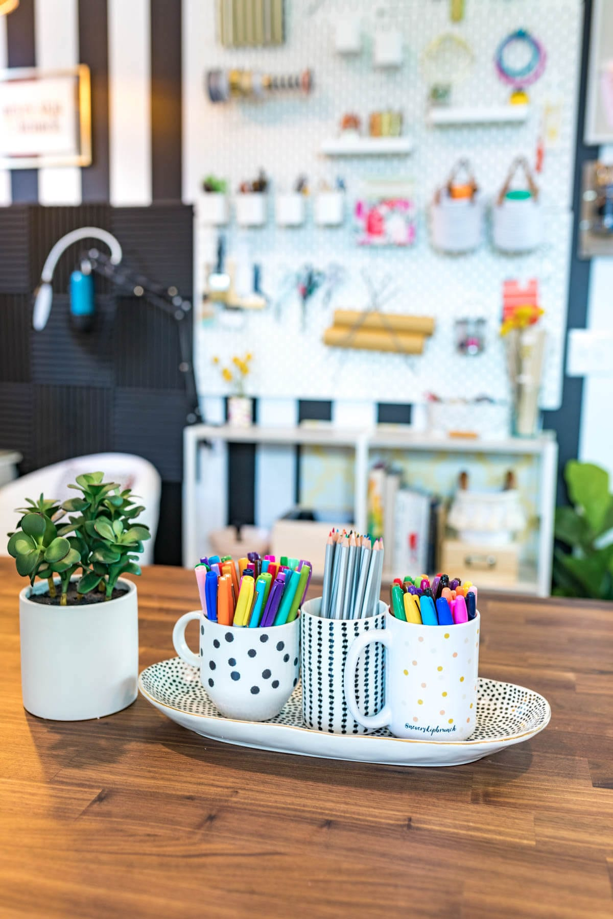 WHAT AN AMAZING SPACE! Office Reveal   Office Decor   office decorating ideas   Studio Design   office decorating ideas for women   Never Skip Brunch by Cara Newhart #home #decor #office #studio
