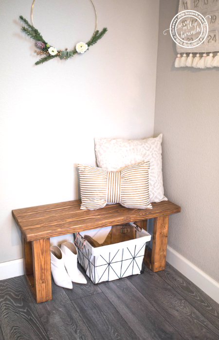Super Make This Gorgeous Diy Entryway Bench For Under 12 Never Machost Co Dining Chair Design Ideas Machostcouk