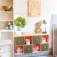 Elevated Cube Storage Makeover DIY with Vintage Vibes