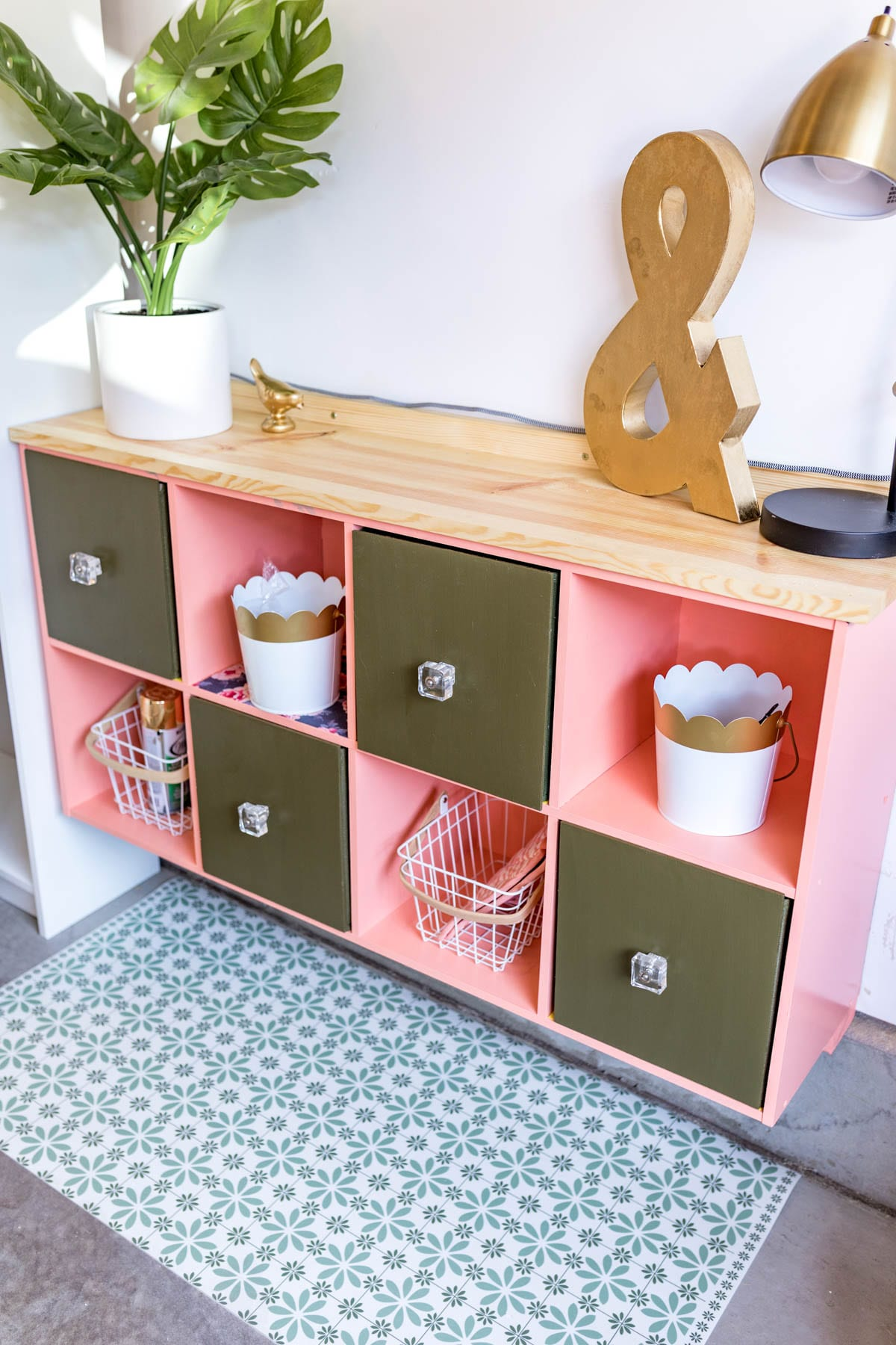 ELEVATE YOUR CUBE STORAGE! cube storage makeover diy | cube storage ideas | cube storage decor | cube storage ideas living room | cube storage ideas office | DIY Home decor ideas | Never Skip Brunch by Cara Newhart | #decor #diy #storage #neverskipbrunch