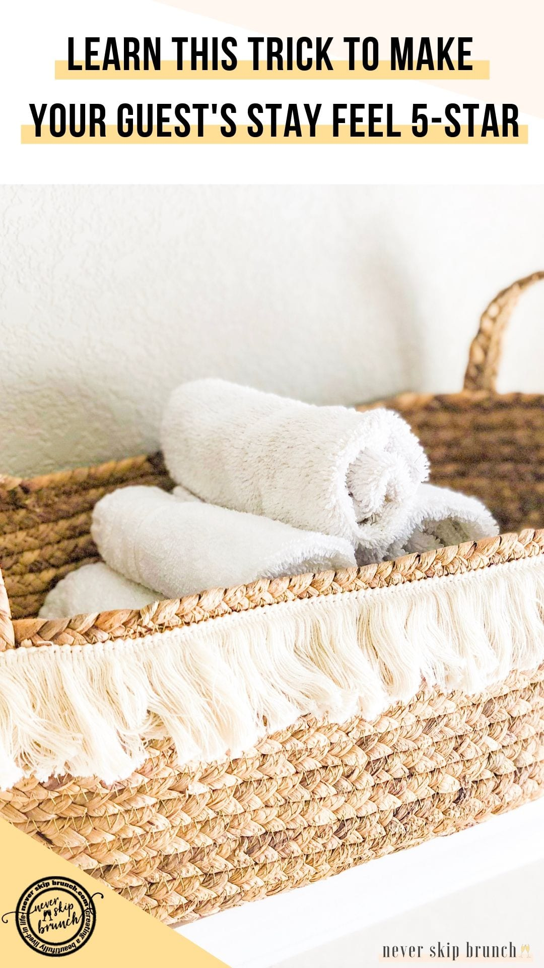 SO PERFECT! Roll your washcloths like a spa | roll washcloths how to | roll washcloths in basket | spa roll towels | roll towels like spa | Never Skip Brunch by Cara Newhart #home #decor #bathroom #spa