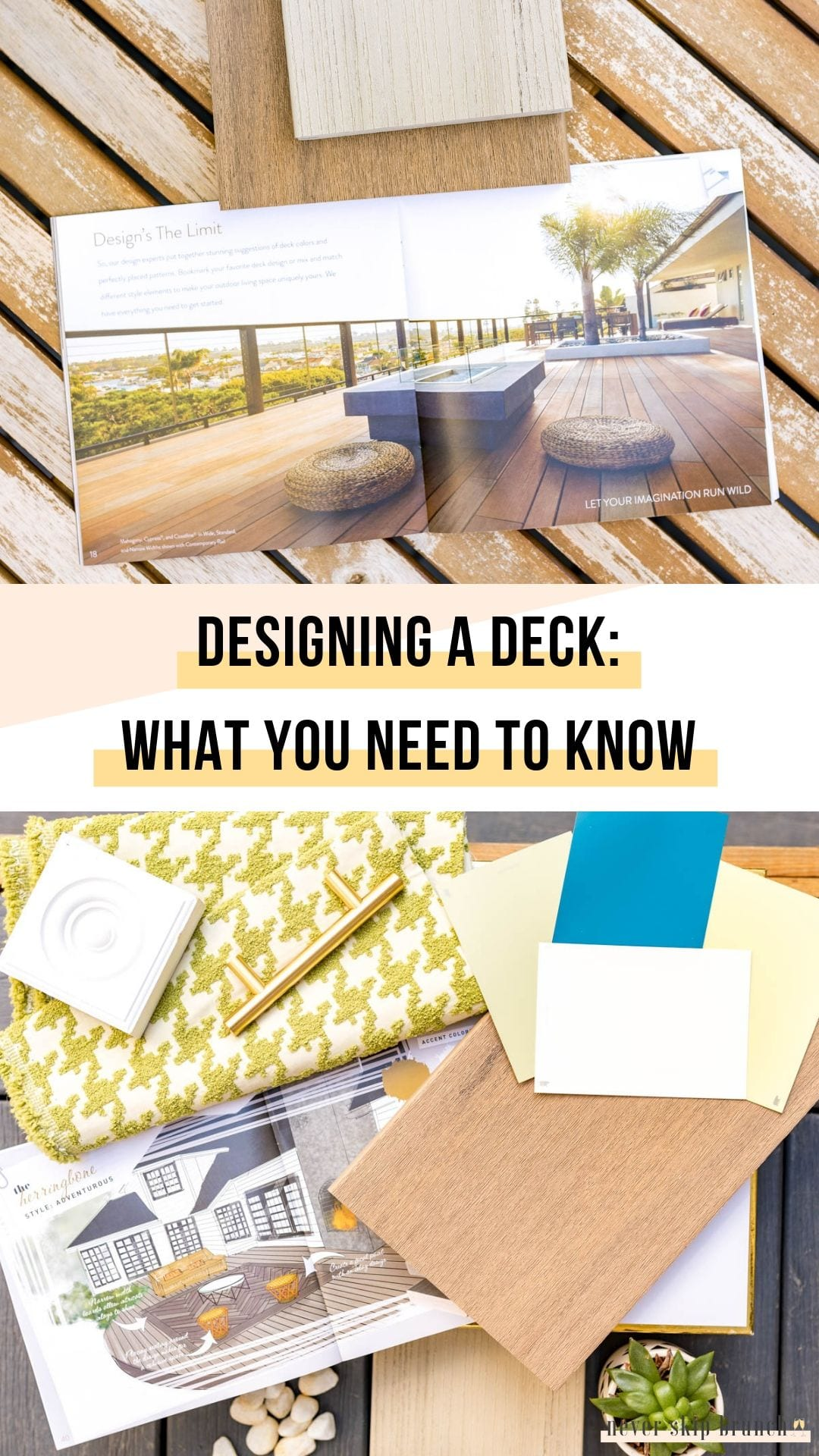 SO HELPFUL! Essential tips for designing a deck that transforms your space into an outdoor oasis | deck planning | how to design a deck | deck design ideas | deck designs | Never Skip Brunch by Cara Newhart #home #decor #deck #outdoor