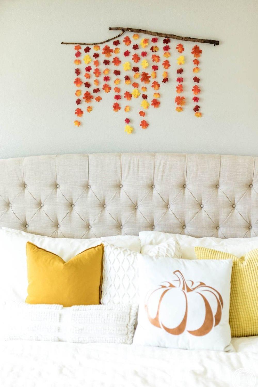 Fall Wall Decor DIY, a tutorial by top US home DIY blogger, Never Skip Brunch