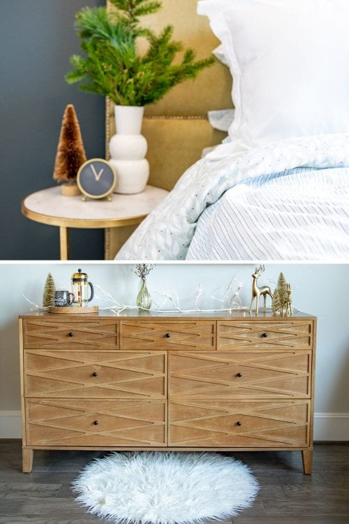 REVEAL: Sprucing up the Guest Room + Master Bedroom for the Holidays with Home Depot