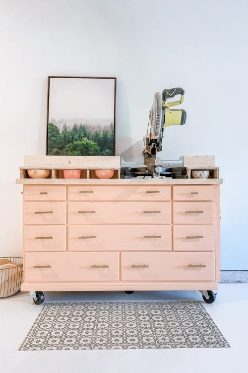 How to turn a dresser into a Miter Saw Stand