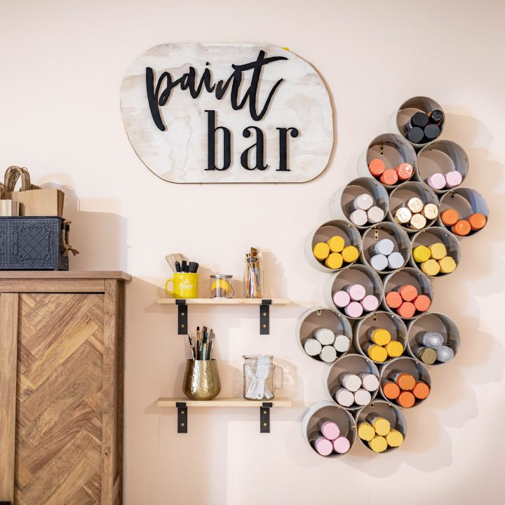 SPRAY PAINT STORAGE WALL
