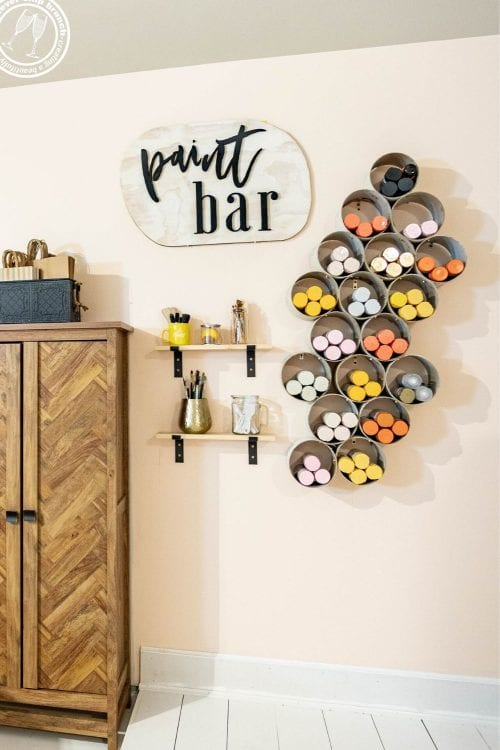 How to DIY a chic Spray Paint Storage Wall