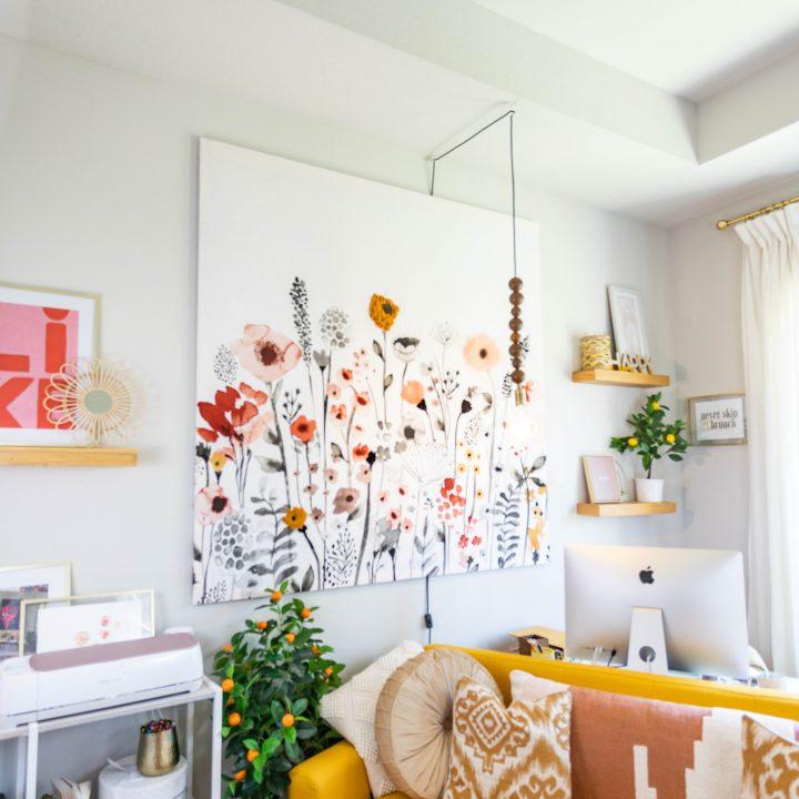 DIY Shower Curtain Canvas Art