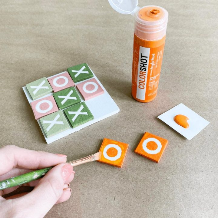make a wooden tic tac toe game.