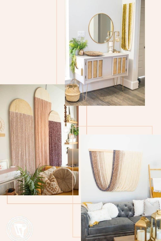 fiber art wall hanging diy featured by top interior design blogger, Never Skip Brunch