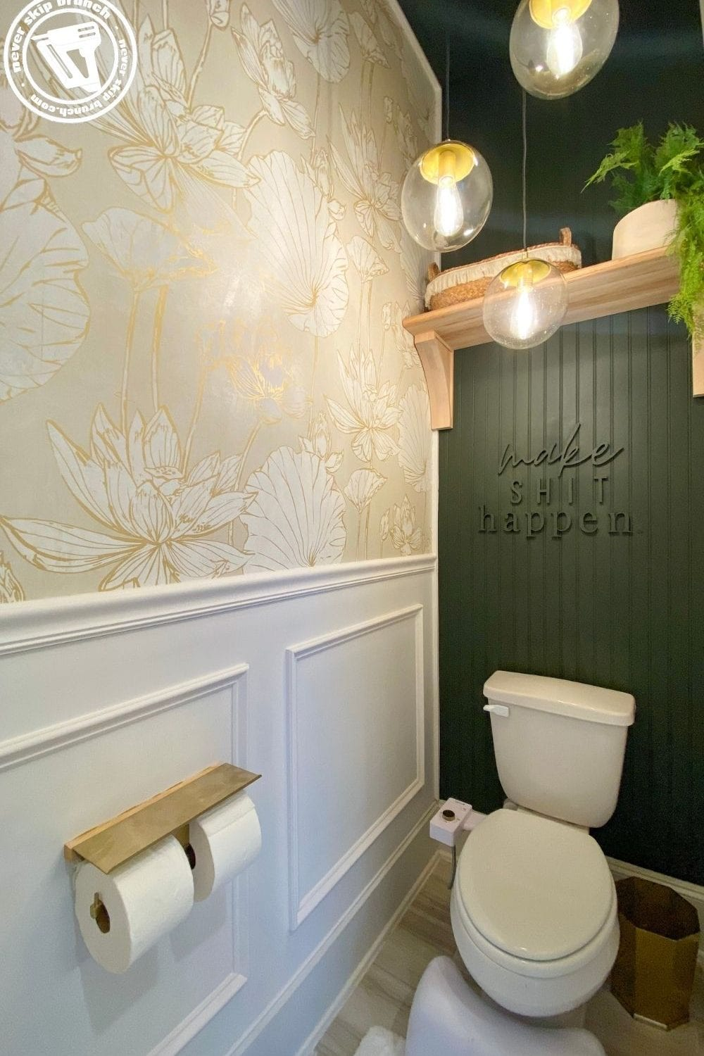 Water Closet Makeover featured by top interior design blogger, Never Skip Brunch