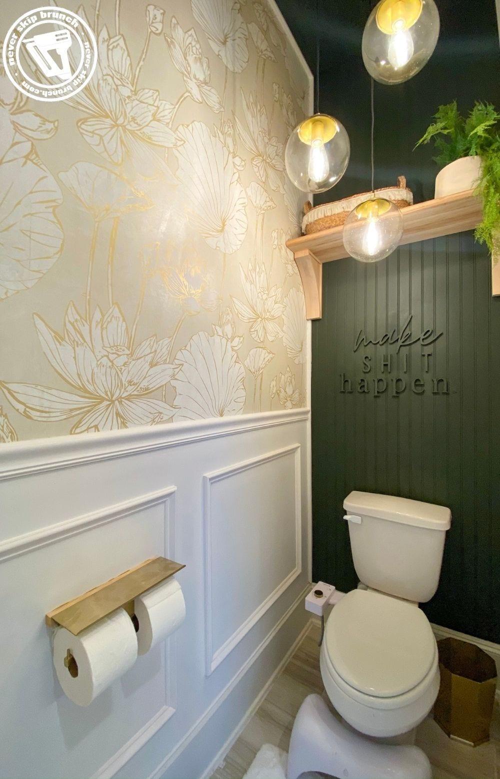 water closet makeover by top interior design blogger, Never Skip Brunch