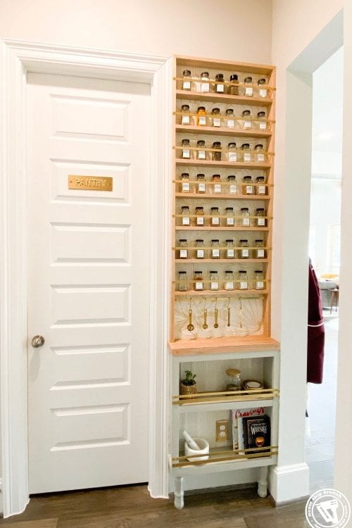 building a spice rack: wall spice rack diy