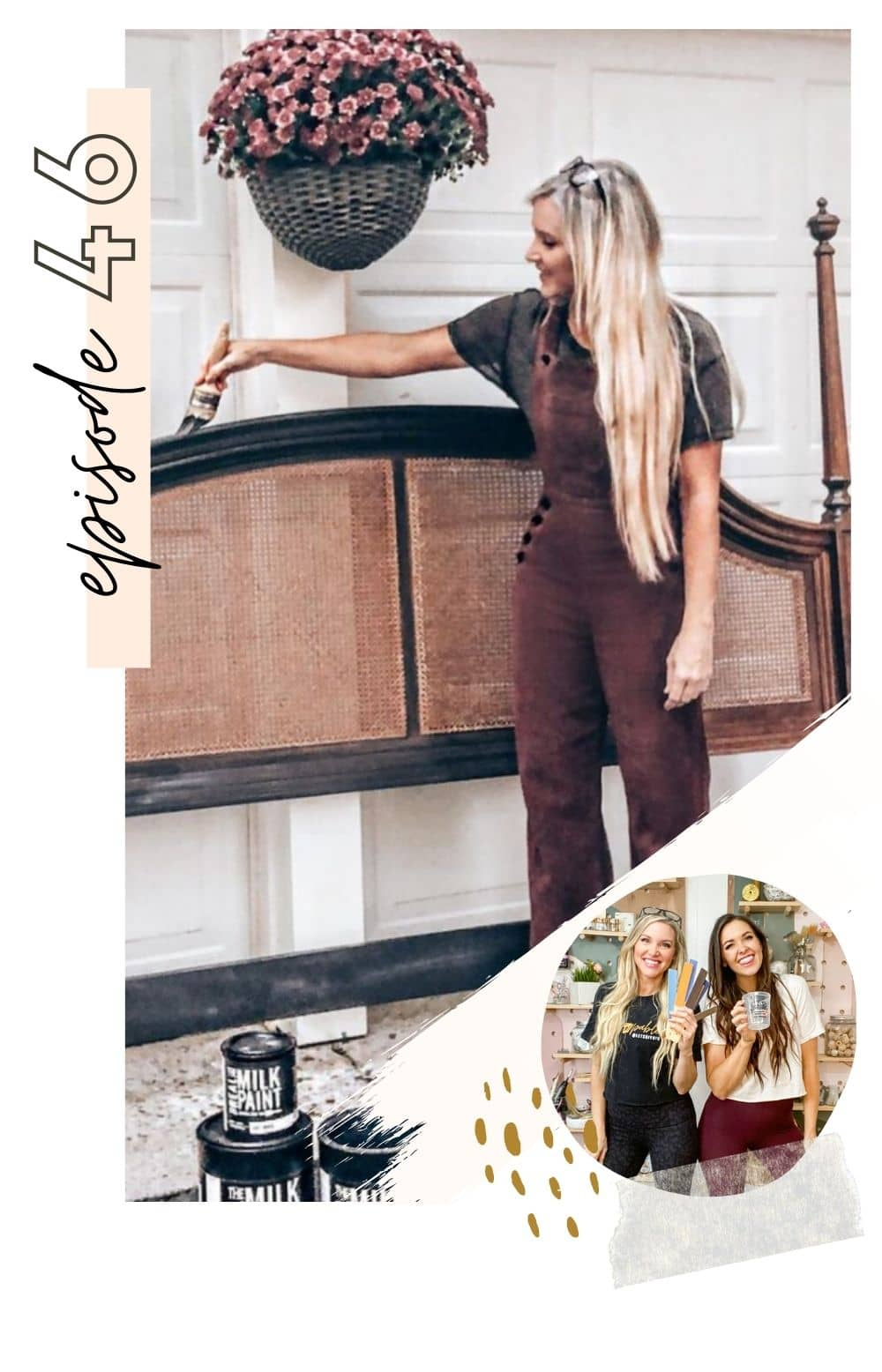 Furniture flipping tips featured by top interior design blogger and podcast, NEVER SKIP BRUNCH