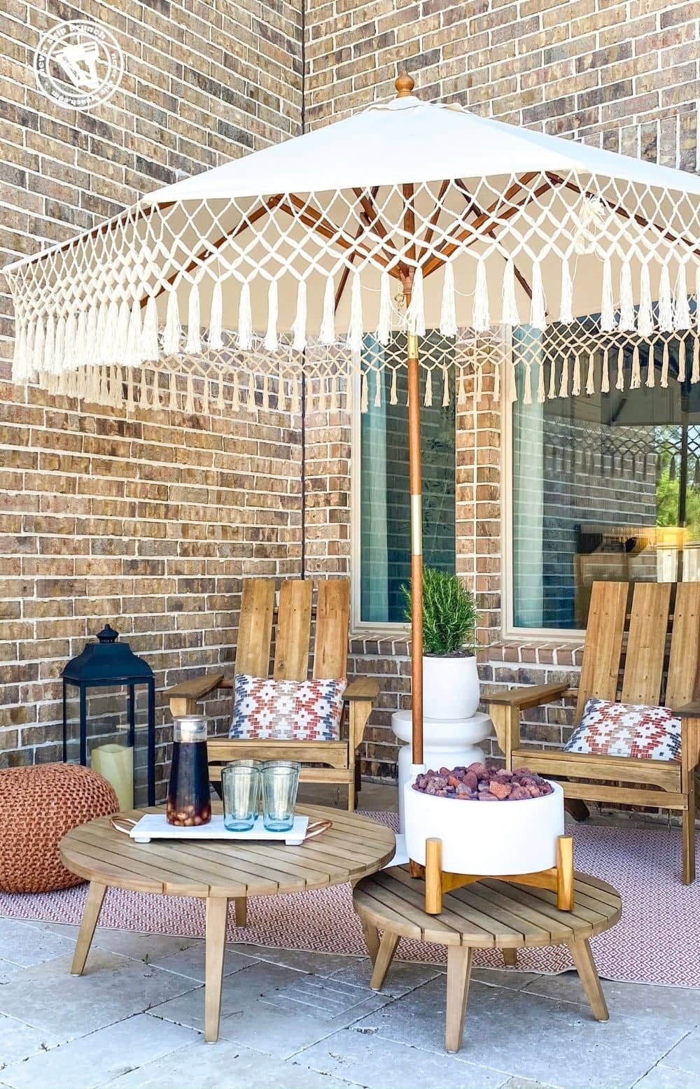 diy patio makeover before and after featured by top US home blogger, Never Skip Brunch