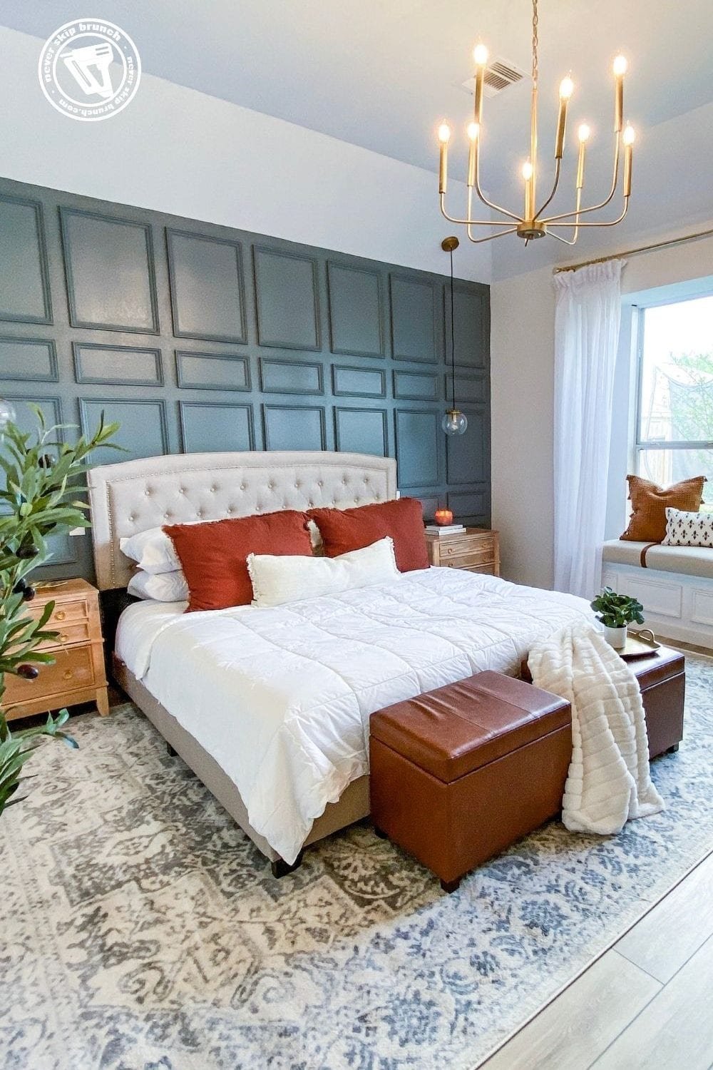 Master Bedroom retreat ideas featured by top home blogger, Never Skip Brunch