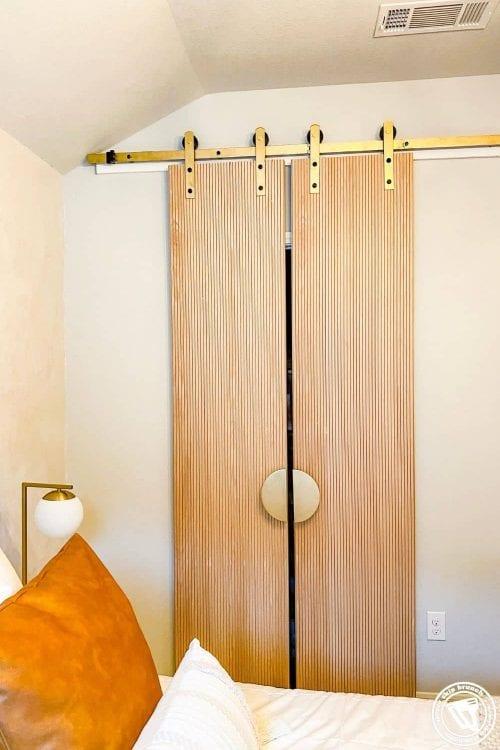 diy sliding double door — make these modern diy barn doors