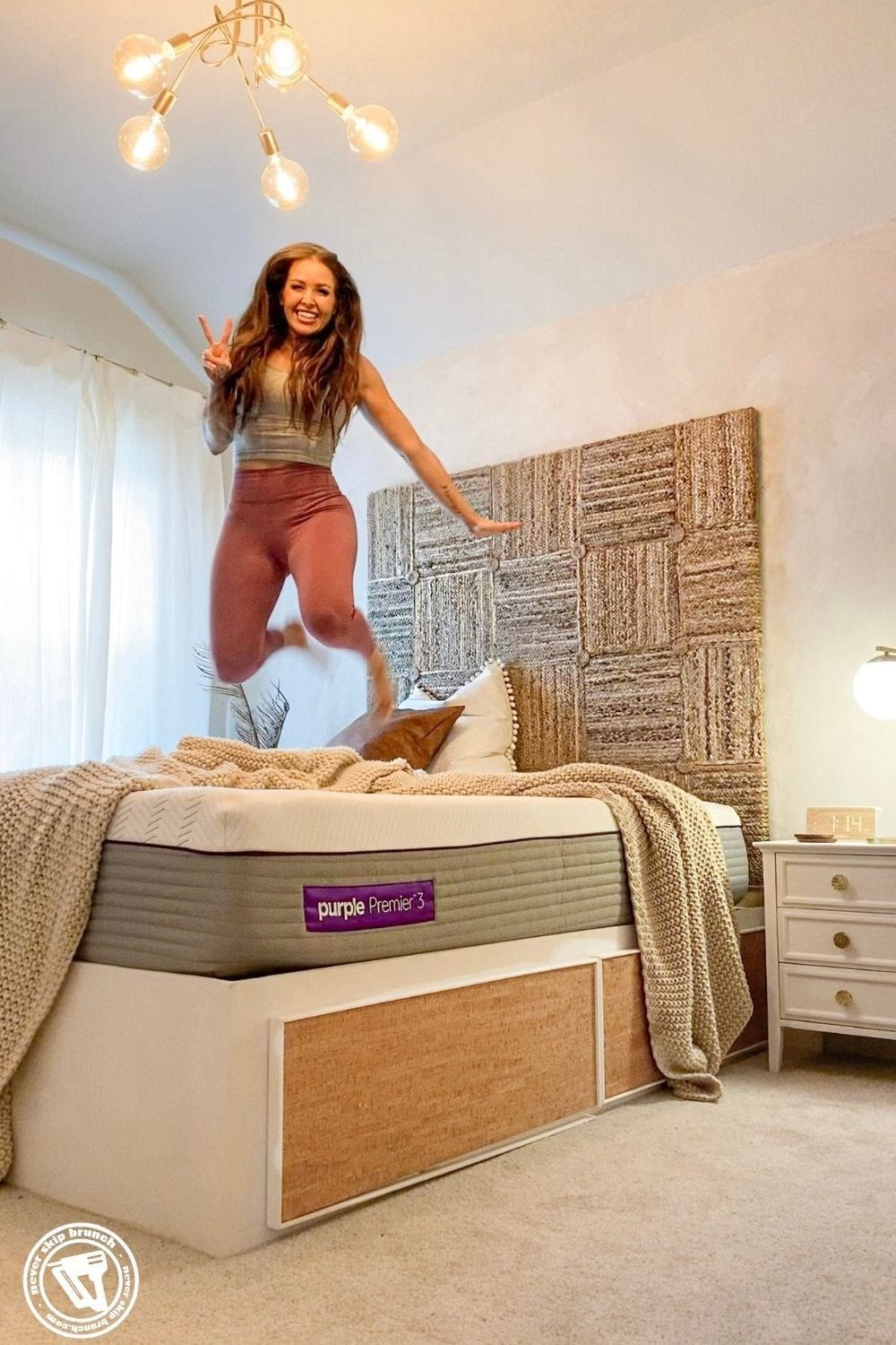 purple mattress review featured by top US home blogger, Never Skip Brunch