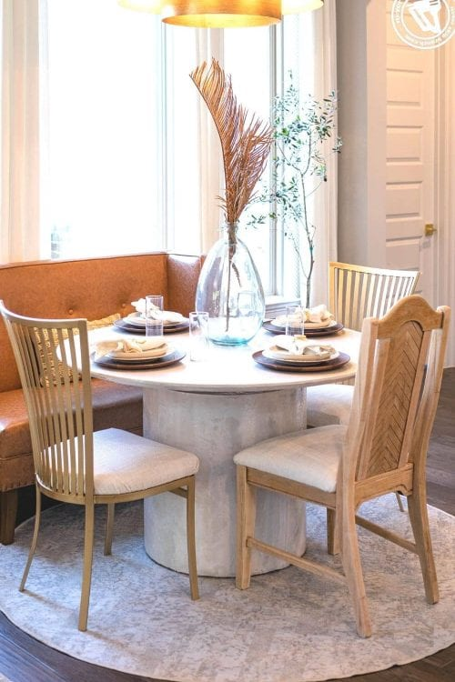 part 01 — breakfast nook diy: furniture flip table and chairs