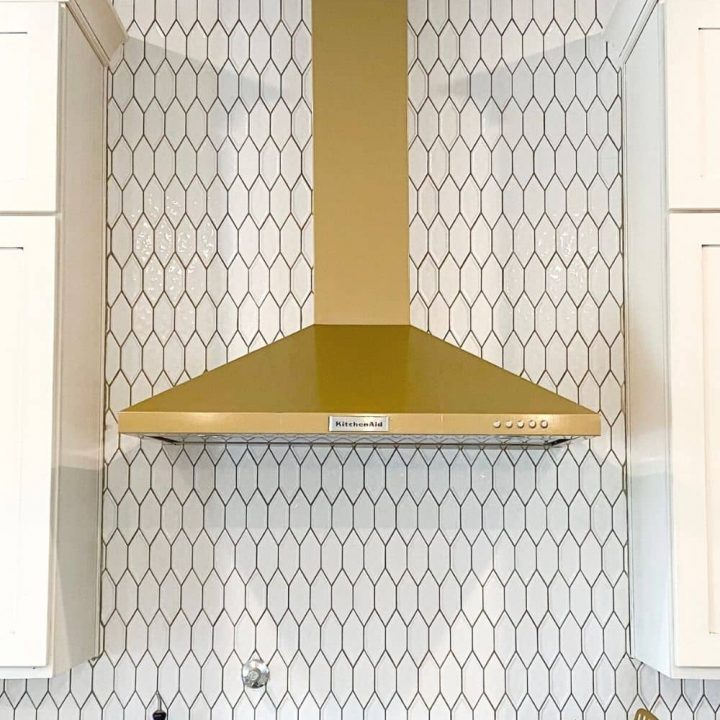 diy gold range hood — simple + renter-friendly