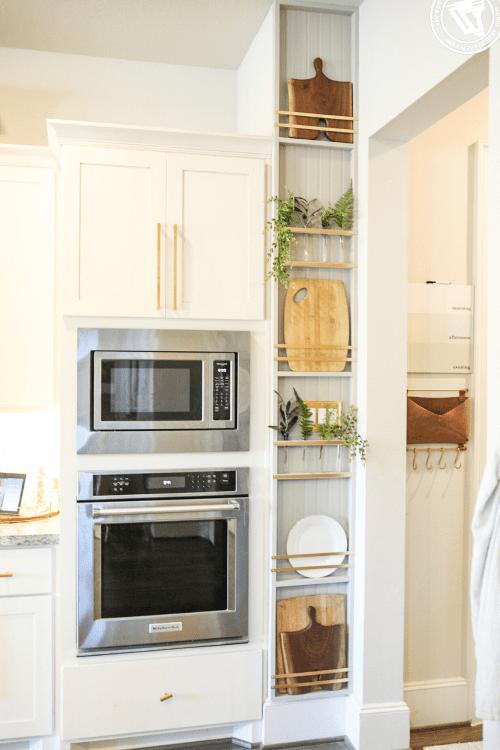 DIY Plant Wall + Kitchen Plate Rack