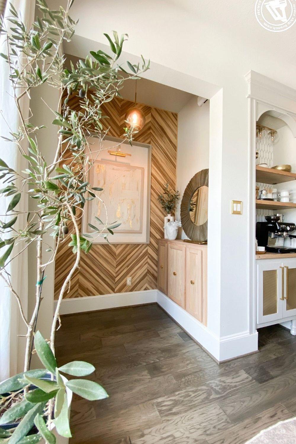 diy built ins with pre-made cabinet, a tutorial featured by top US home DIY blogger, Never Skip Brunch.