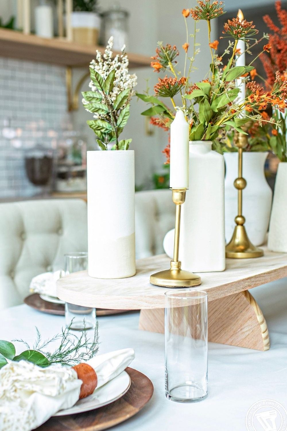 DIY Fall Centerpiece by top US home blogger, Never Skip Brunch